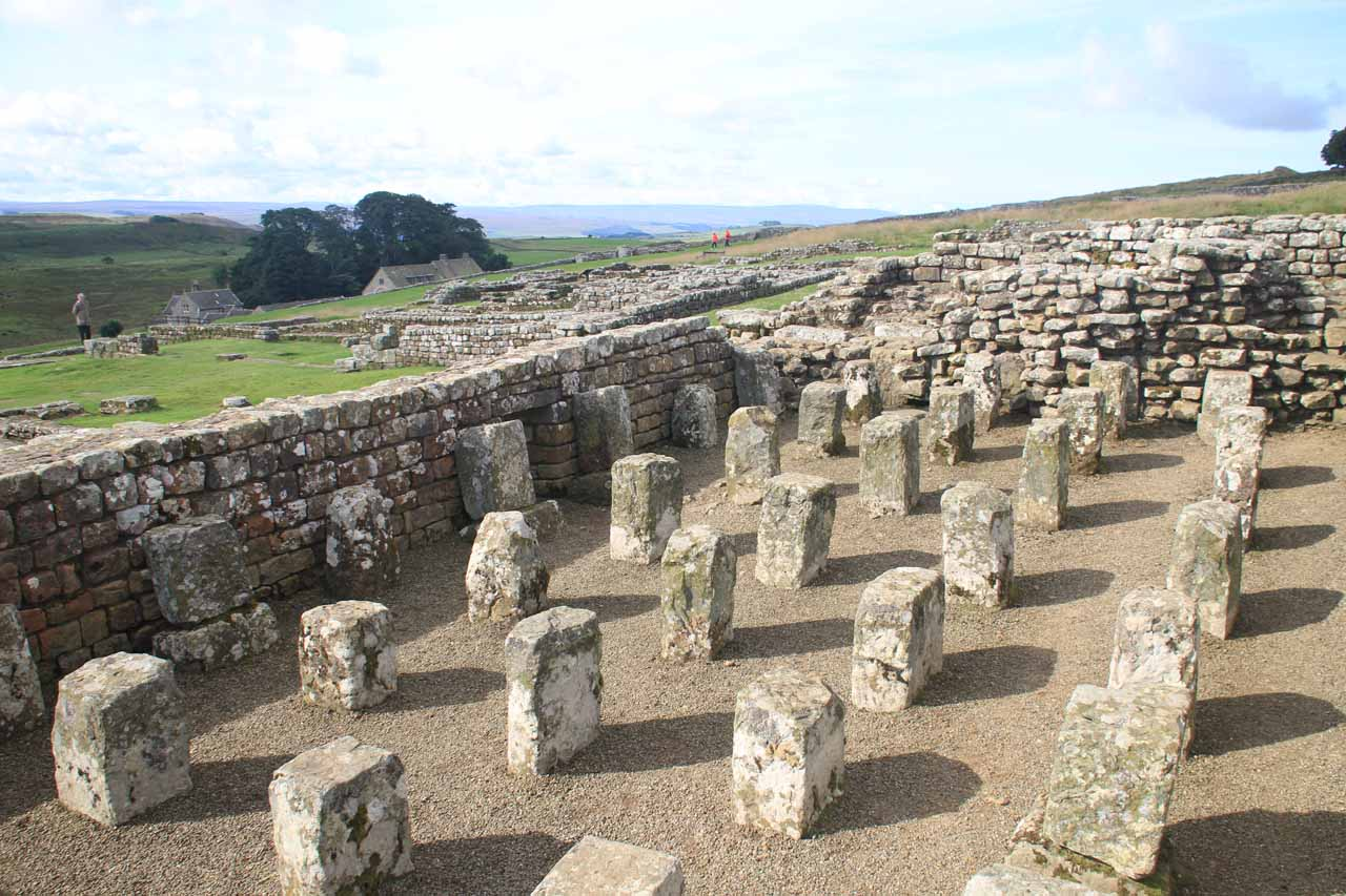 The Roman ruins of the Housesteads Fort (Vercovicium) at Hadrian's Wall in the borderlands of Northumberland was a worthwhile detour on our way to Gray Mare's Tail from Kendal