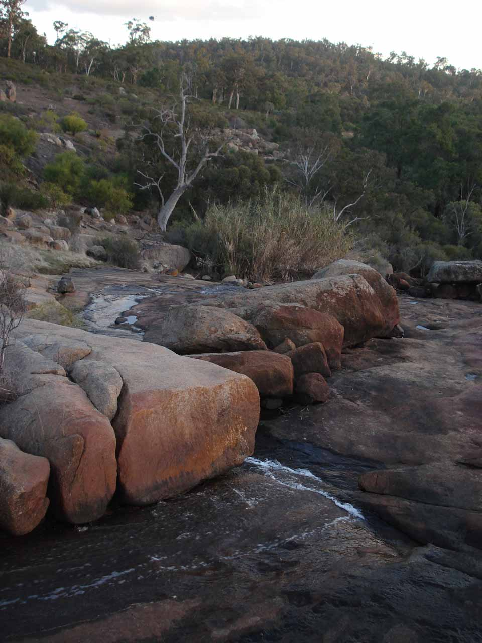 Looking downstream over the top of what was left of Hovea Falls