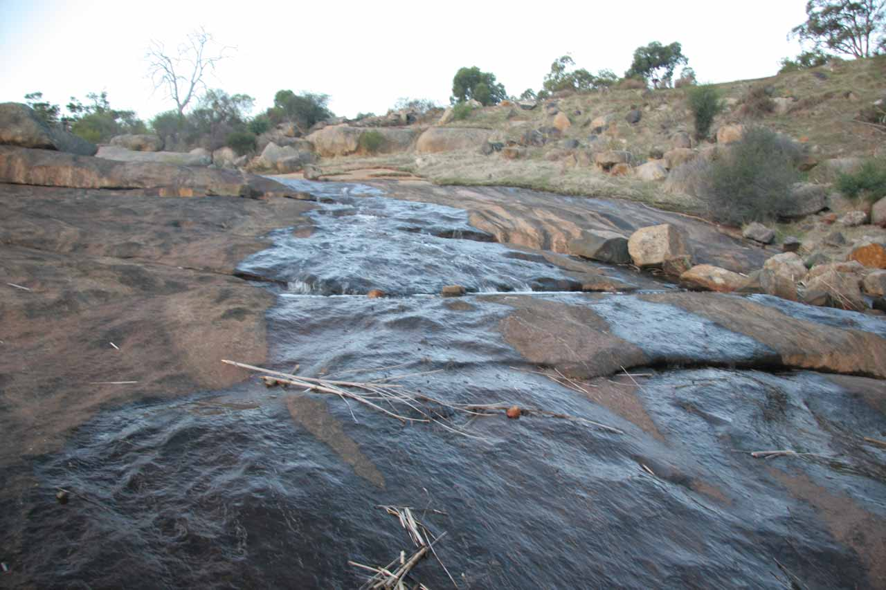 Looking directly upstream at what was left of Jane Brook and Hovea Falls