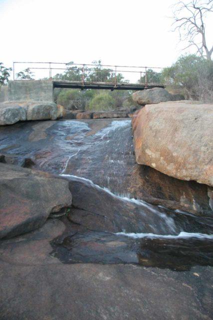 Hovea_Falls_018_06212006 - Direct look up at Hovea Falls and the footbridge above it