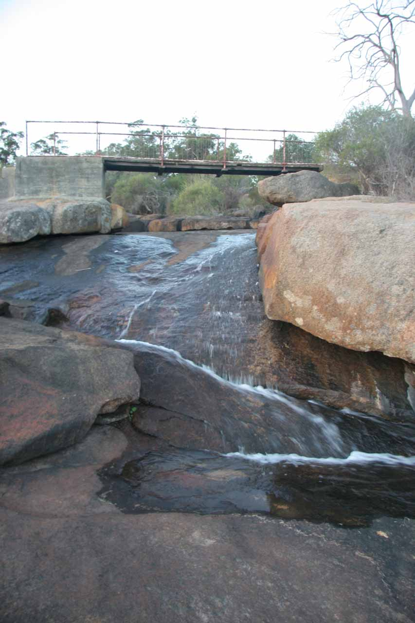 What's left of the Hovea Falls