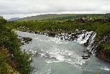 Hraunfossar_052_08182021 - Looking back downstream along the Hvita River towards the Hraunfossar Waterfalls as seen from the footbridge