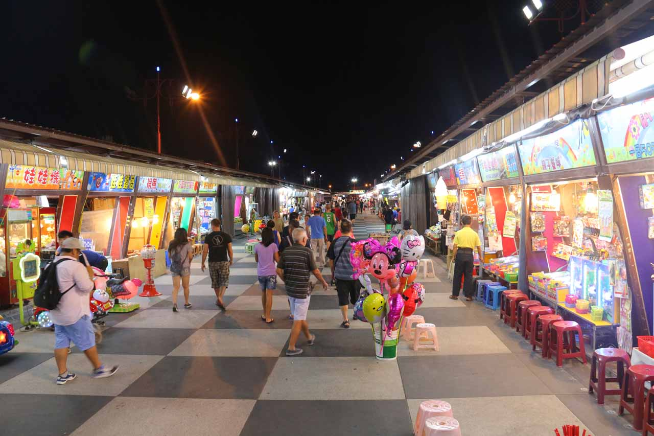 Hualien City was about 2 hours drive north of Luoshan Waterfall, but it was the county capital. While there, we got to experience the 'Rainbow' Night Market