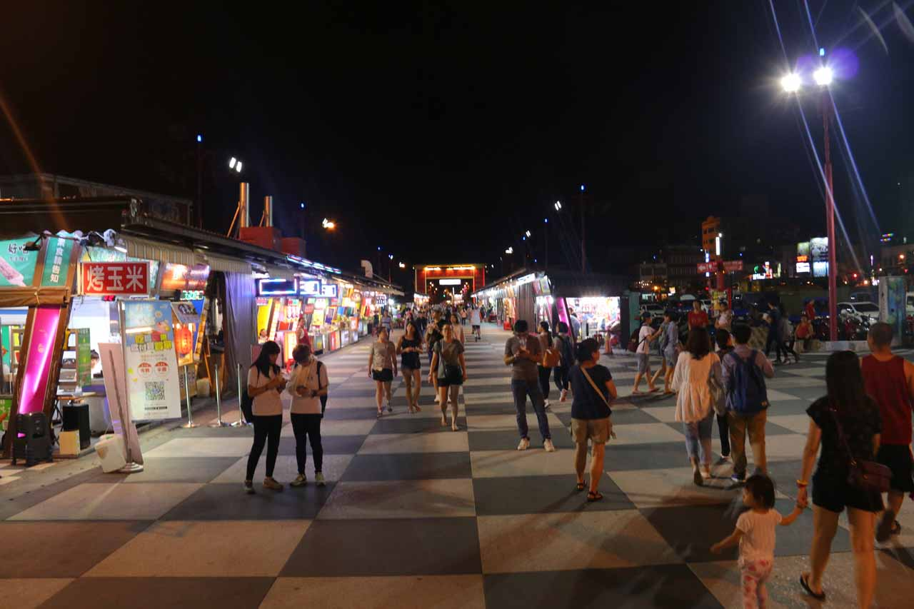 Most towns in Taiwan has a night market, and Hualien was no different. The one shown here was called the 'Rainbow' Night Market