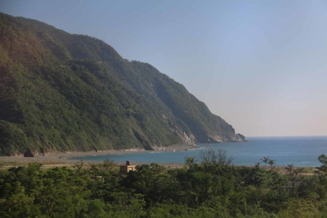 Hualien_Train_048_10262016 - Looking back in the direction of the Qingshui Cliffs while taking the train between Taipei and Hualien