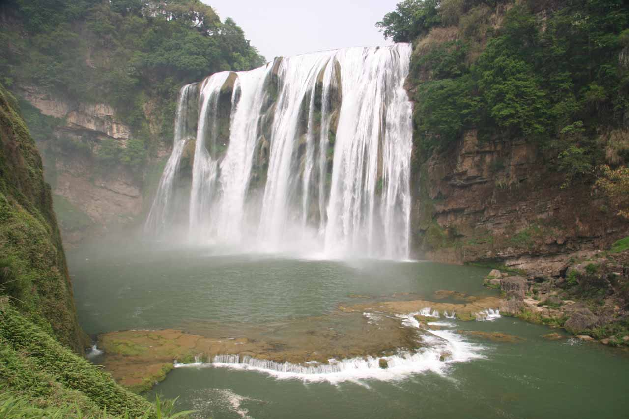 More top down view of the Huangguoshu Waterfall