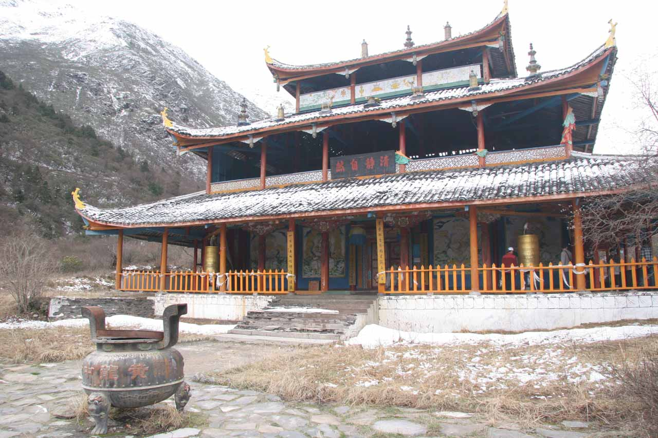 This temple was about two-thirds on the way up to the top of Huanglong
