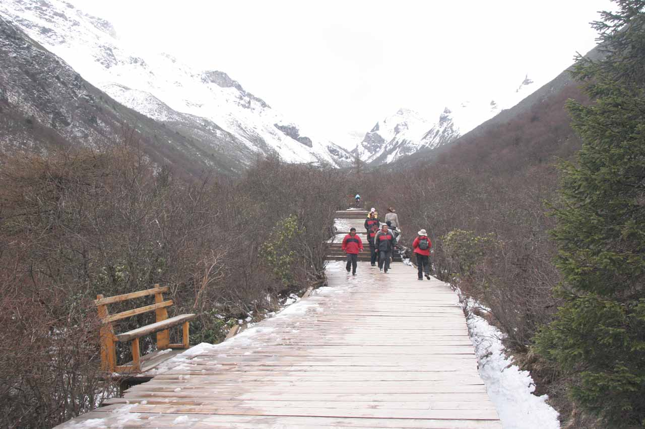 Continuing on the boardwalk beyond the temple at which point we were starting to feel the thin air