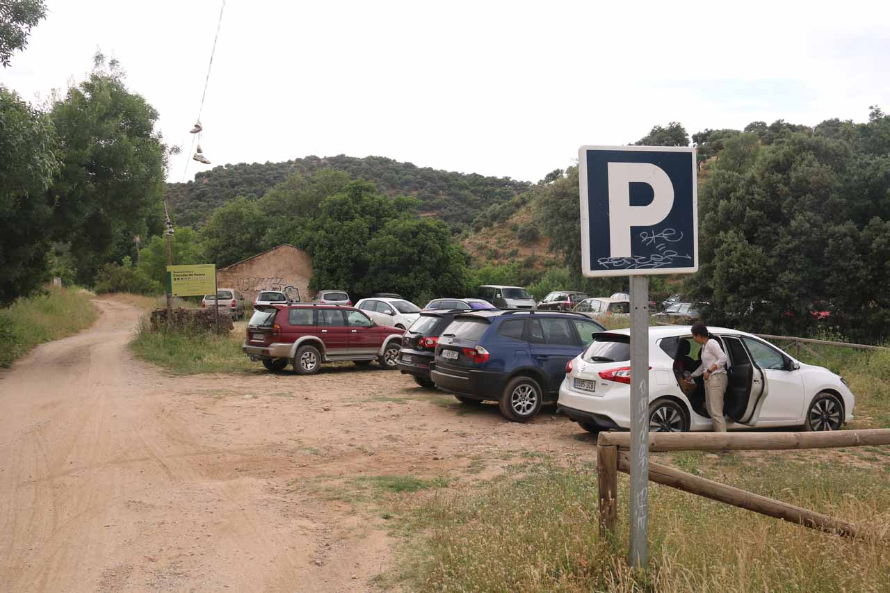 This was the first (and nearest) car park for the Cascadas de Huesna that we could find