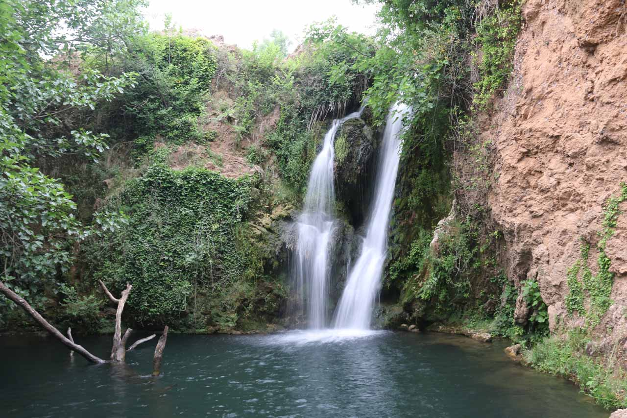 One of the many waterfalls at the Cascadas de Huesna