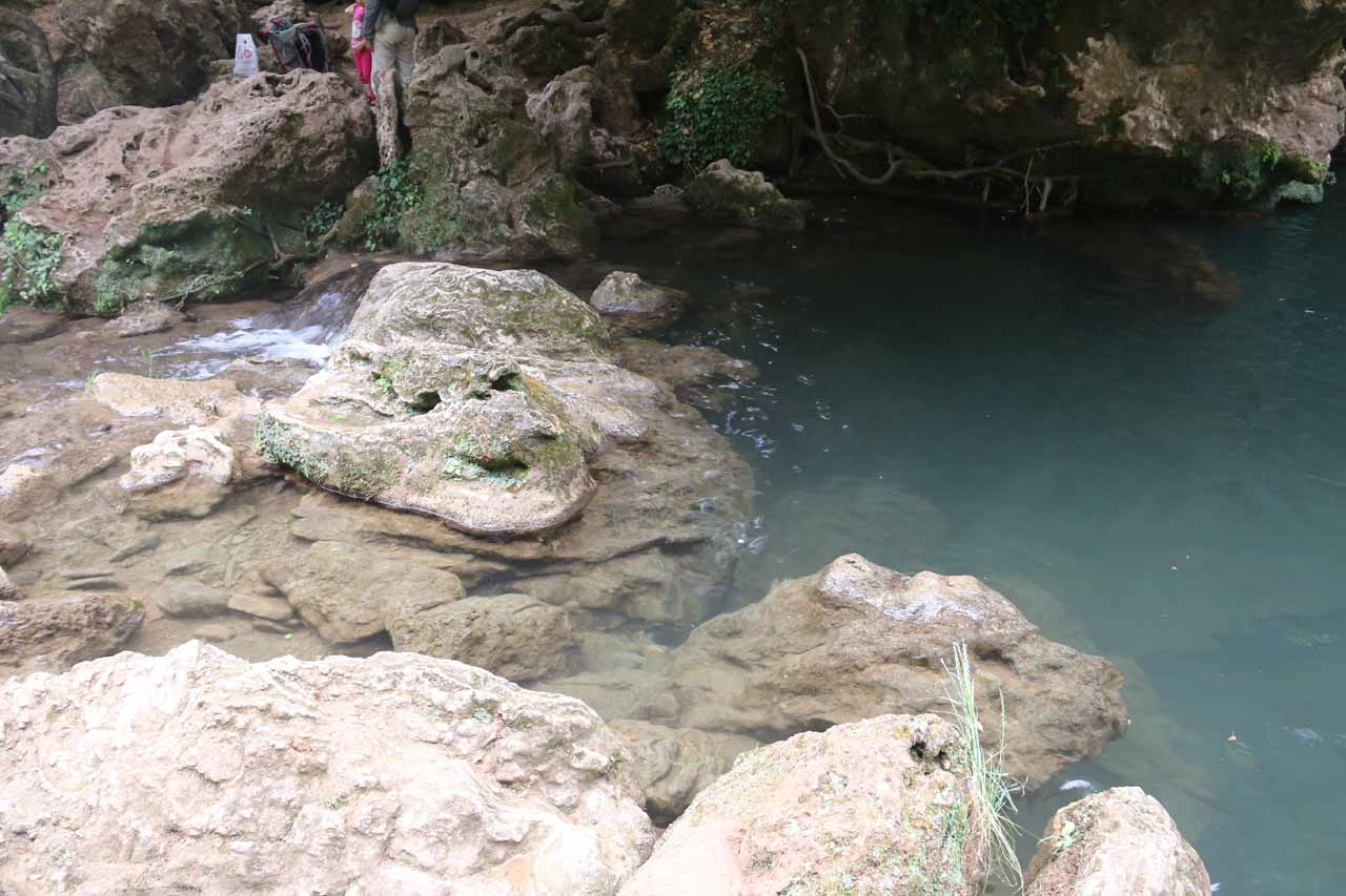 This was the stream crossing that I had to do in order to get a cleaner look at that first waterfall