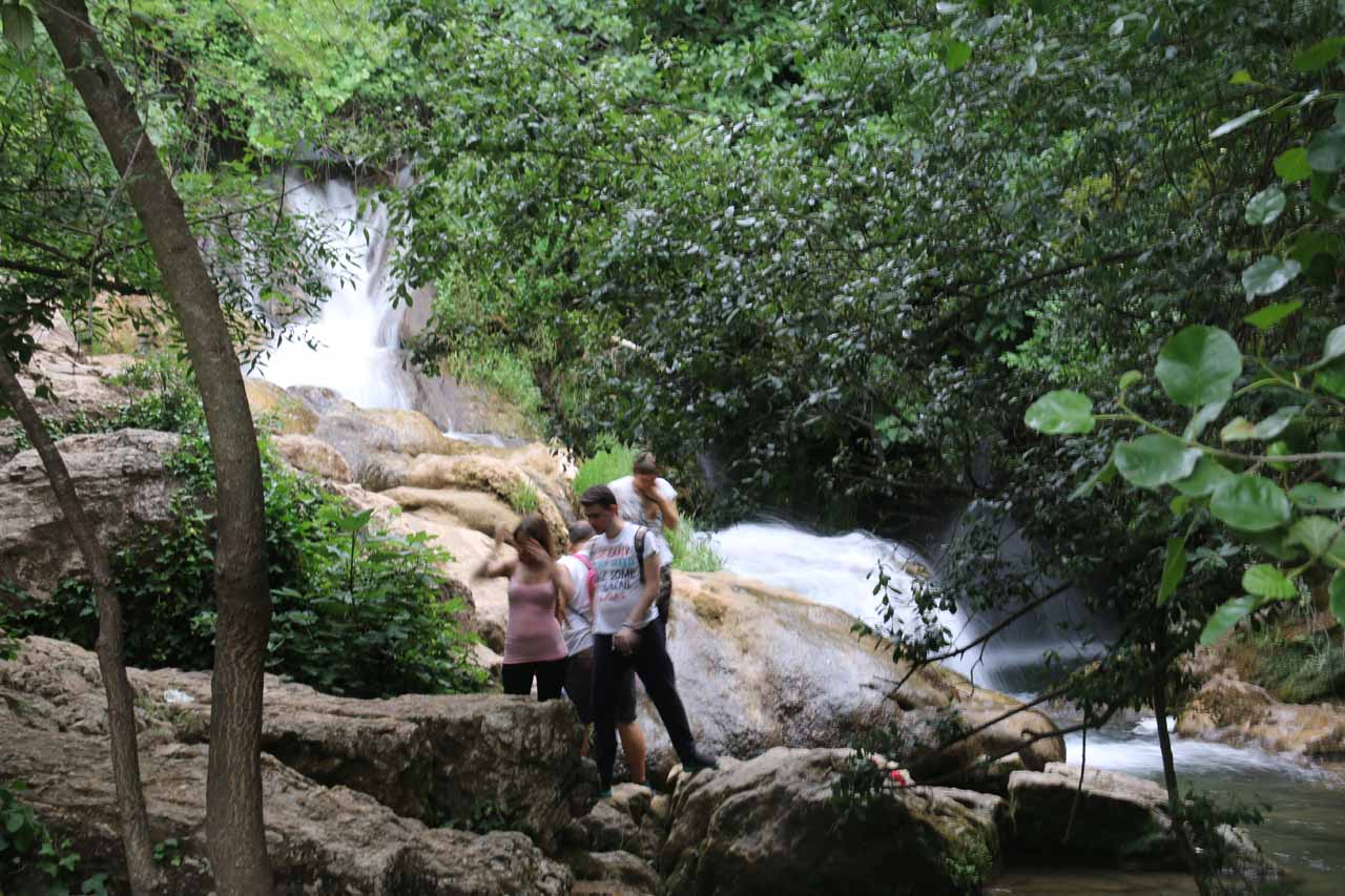 Converging springs and cascades comprising what I'm dubbing the 'third' Cascadas del Hueznar