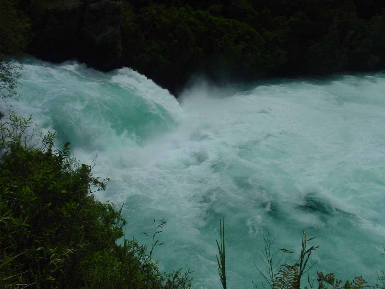 Looking across Huka Falls