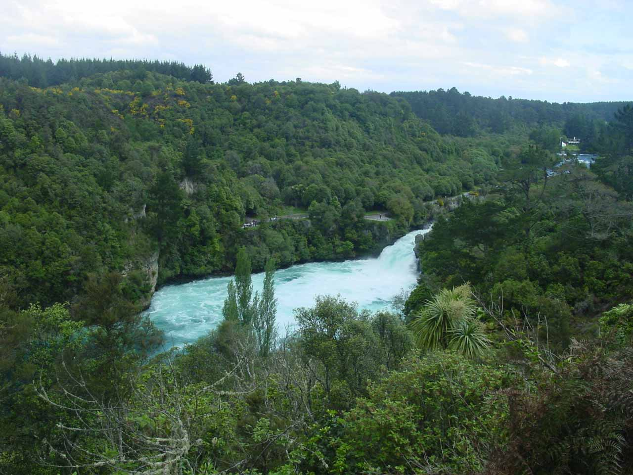 Last look at Huka Falls from an alternate lookout across the river