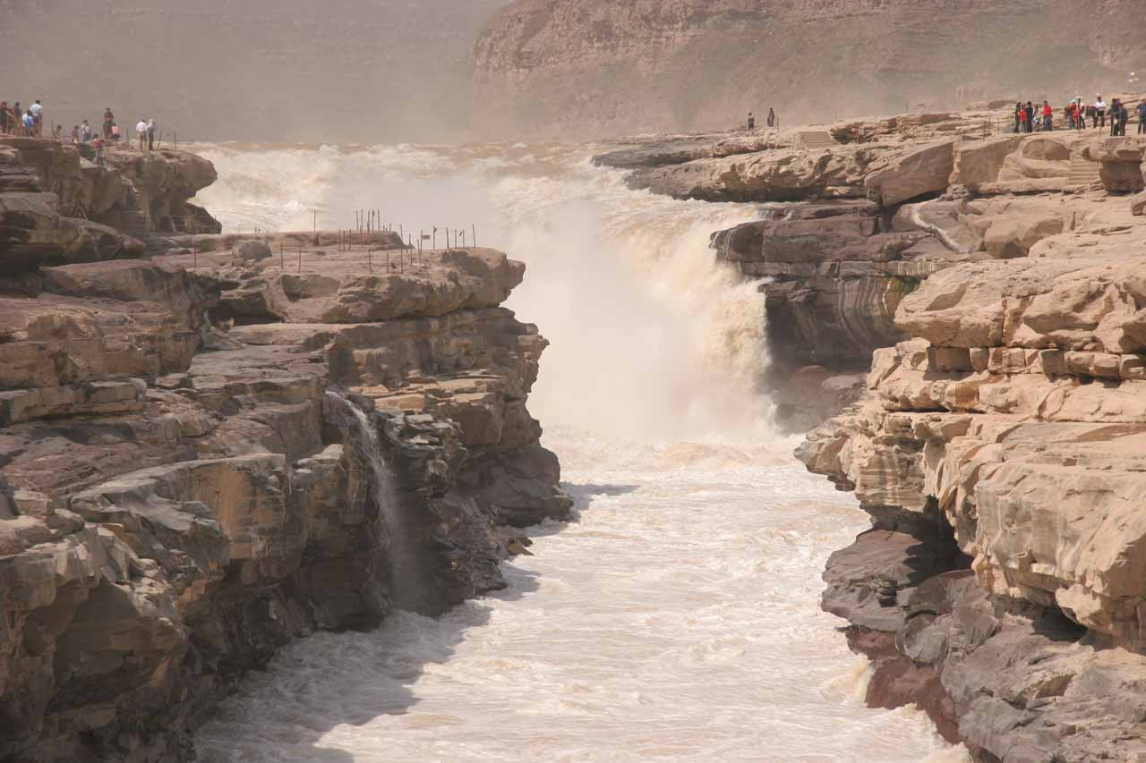 The powerful Hukou Waterfall