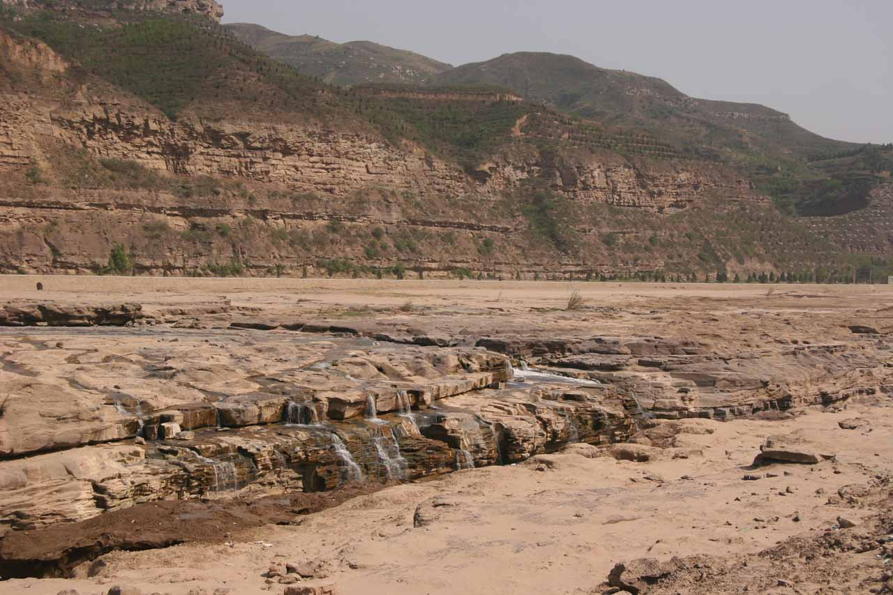 Looking downstream from the Hukou Waterfall as we were about to leave