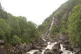 Hunnedalsvegen_015_06212019 - Looking upstream from the bridge towards the waterfall near Giljajuvet