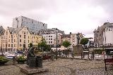 Hurtigruten_day2_532_06302019 - Back at the main square for Alesund, which was now devoid of people