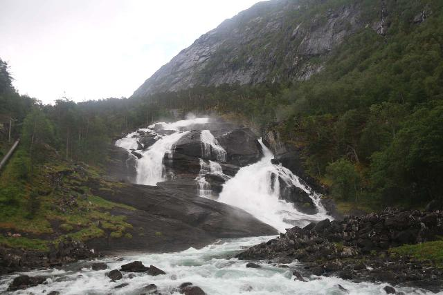 Husedalen_002_06232019 - Looking up at Tveitafossen when the Kinso River was in lower flow during my brief visit in late June 2019