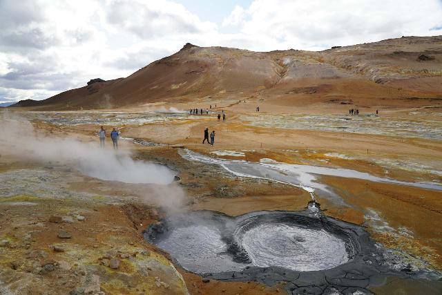 Hverir_010_08132021 - Also just east of Reykjahlið and the lake Mývatn was the thermal area of Hverir or Námaskarð, which helped us to kill some time before our assigned entrance time for the Mývatn Nature Baths nearby
