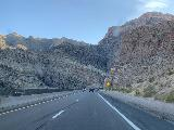 I-15_008_iPhone_10192020 - Still passing through more attractive canyon scenery cut by the Virgin River during the Arizona interlude along the I-15 on the way south to Las Vegas