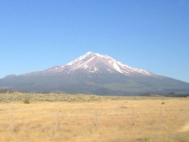 I-5_shasta_029_iphone_07132016 - It was around 2.25 hours drive from Willows to Weed, where we managed to get gorgeous views of Mt Shasta while driving along the I-5
