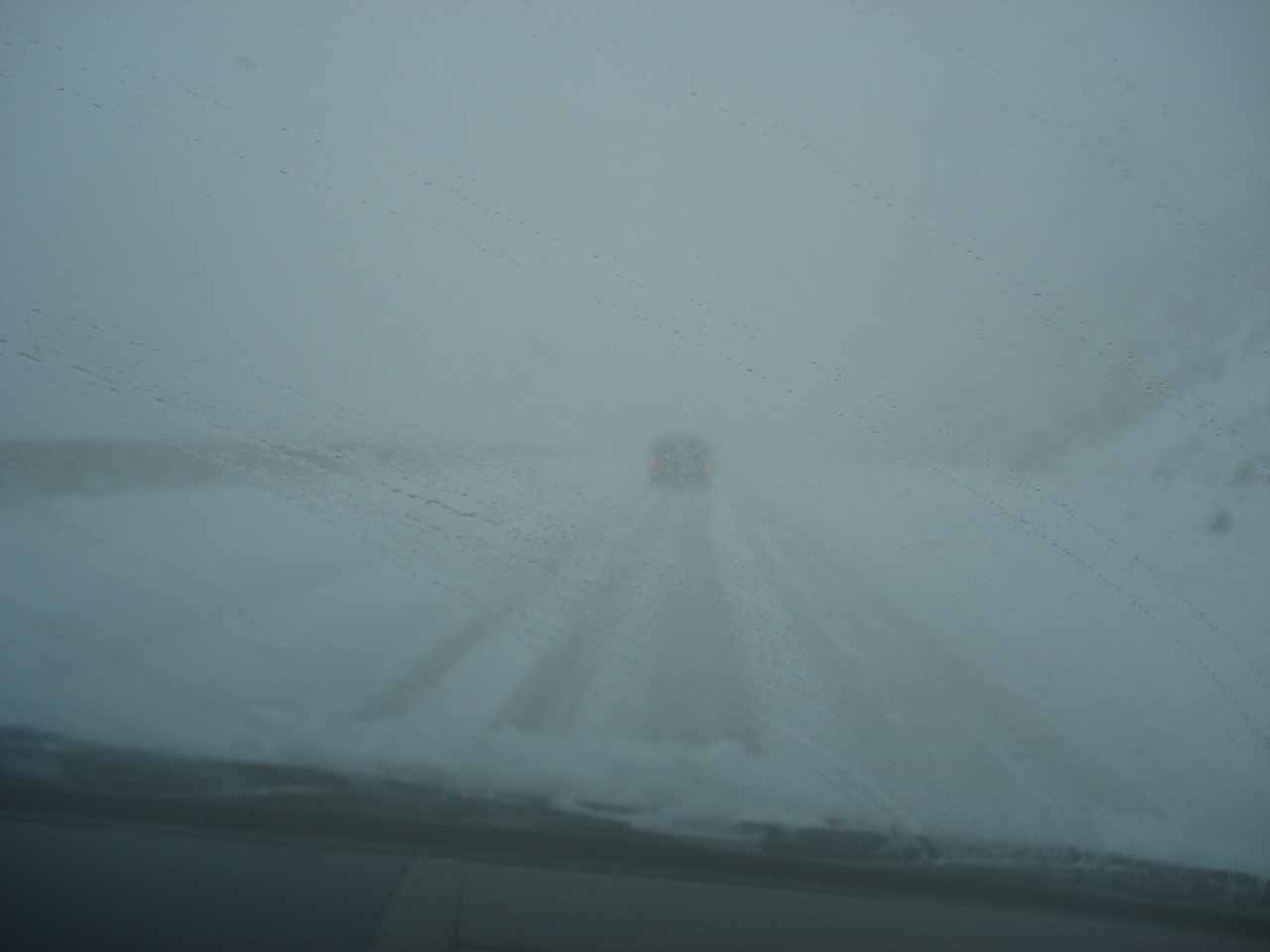 Very dangerous driving conditions on the Interstate 8