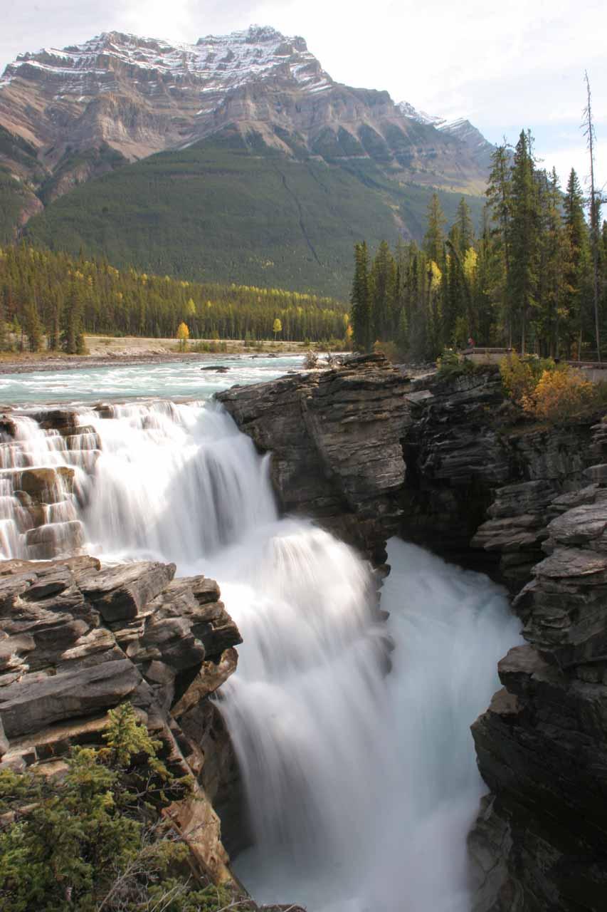 Athabasca Falls and backdrop
