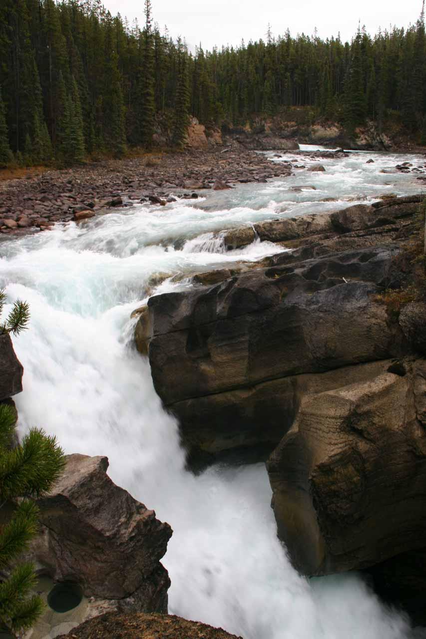 One of the three Lower Sunwapta Falls