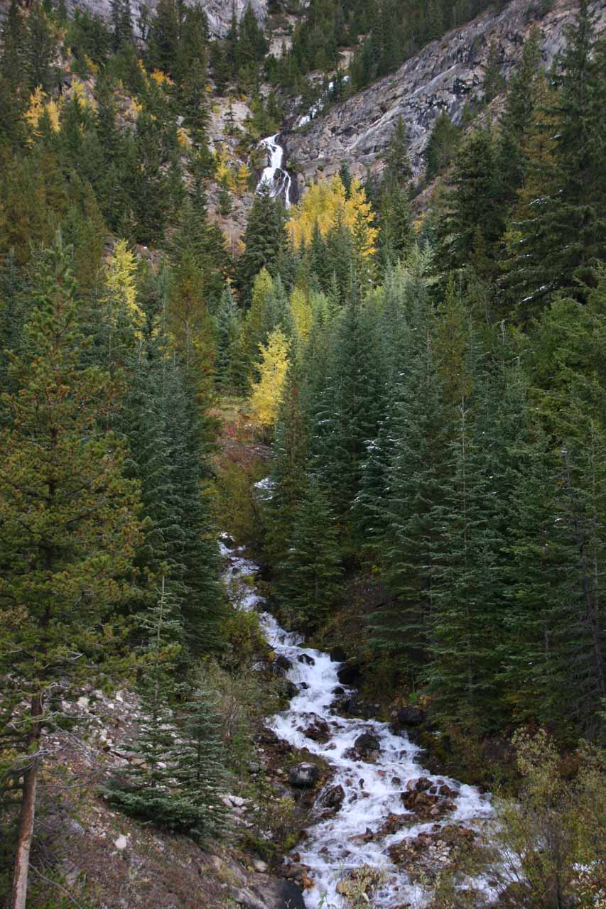 A cascade further south of the one mentioned by Cirrus Mountain