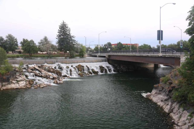 Idaho_Falls_012_08142017 - Looking back towards the Broadstreet Bridge and part of Idaho Falls in downtown Idaho Falls