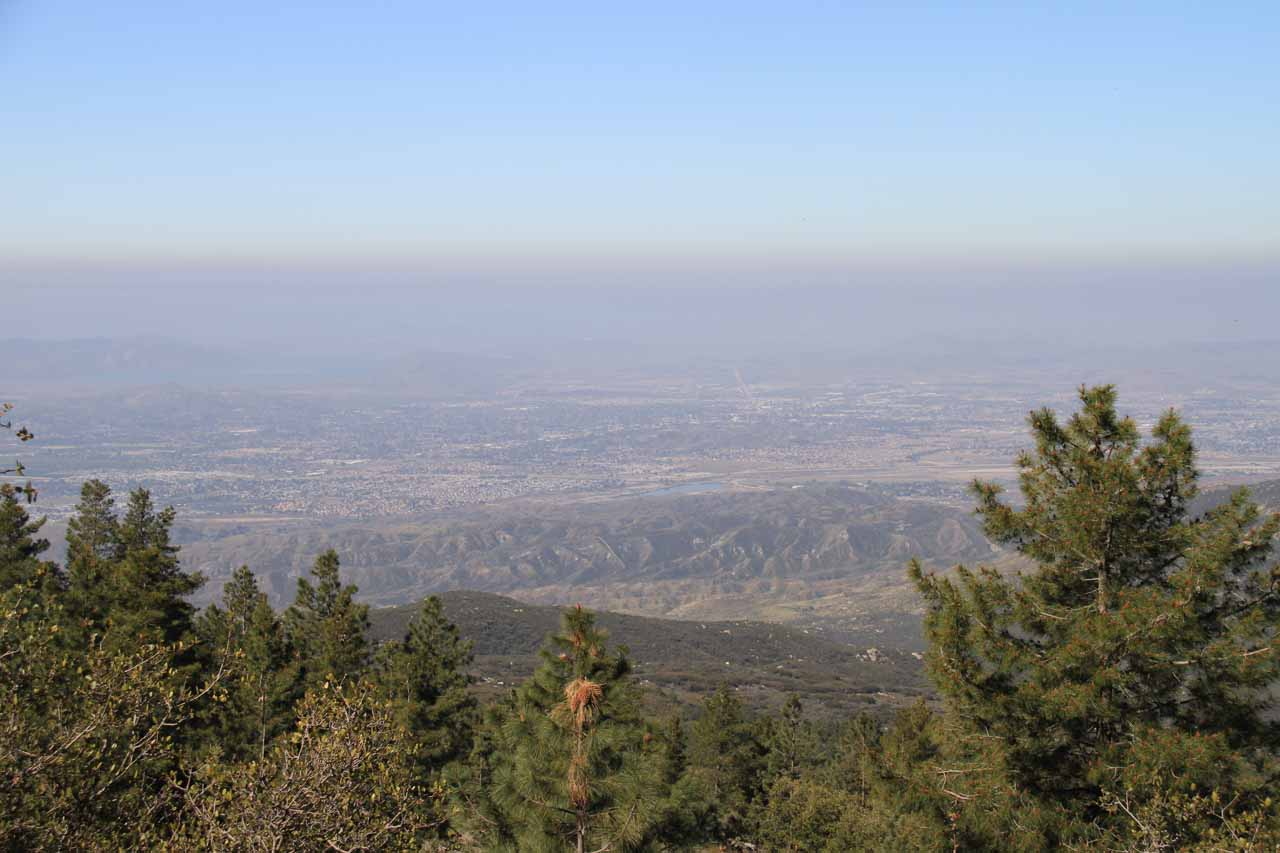 The smog collecting at Riverside County