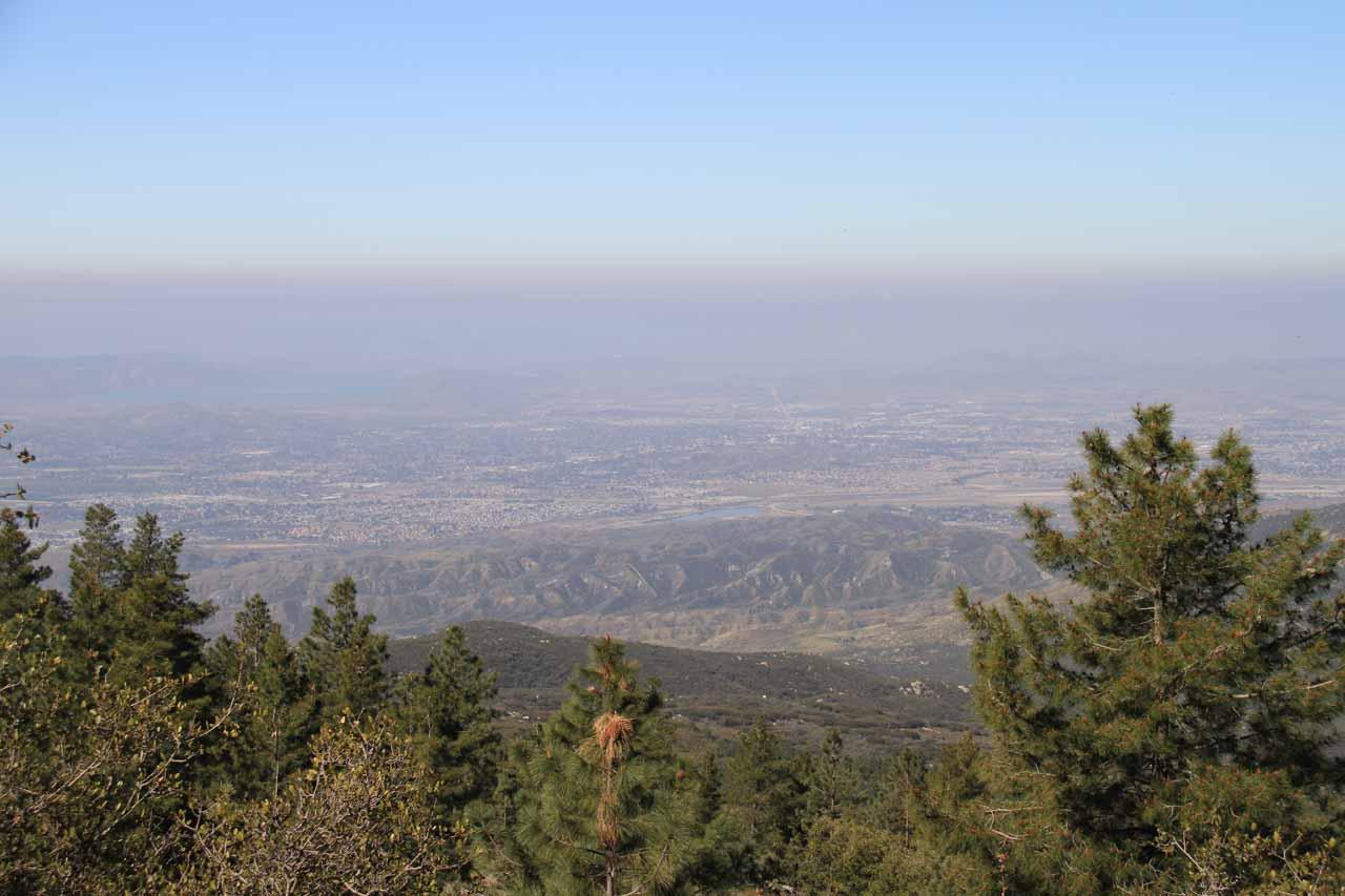 Smog over Riverside County