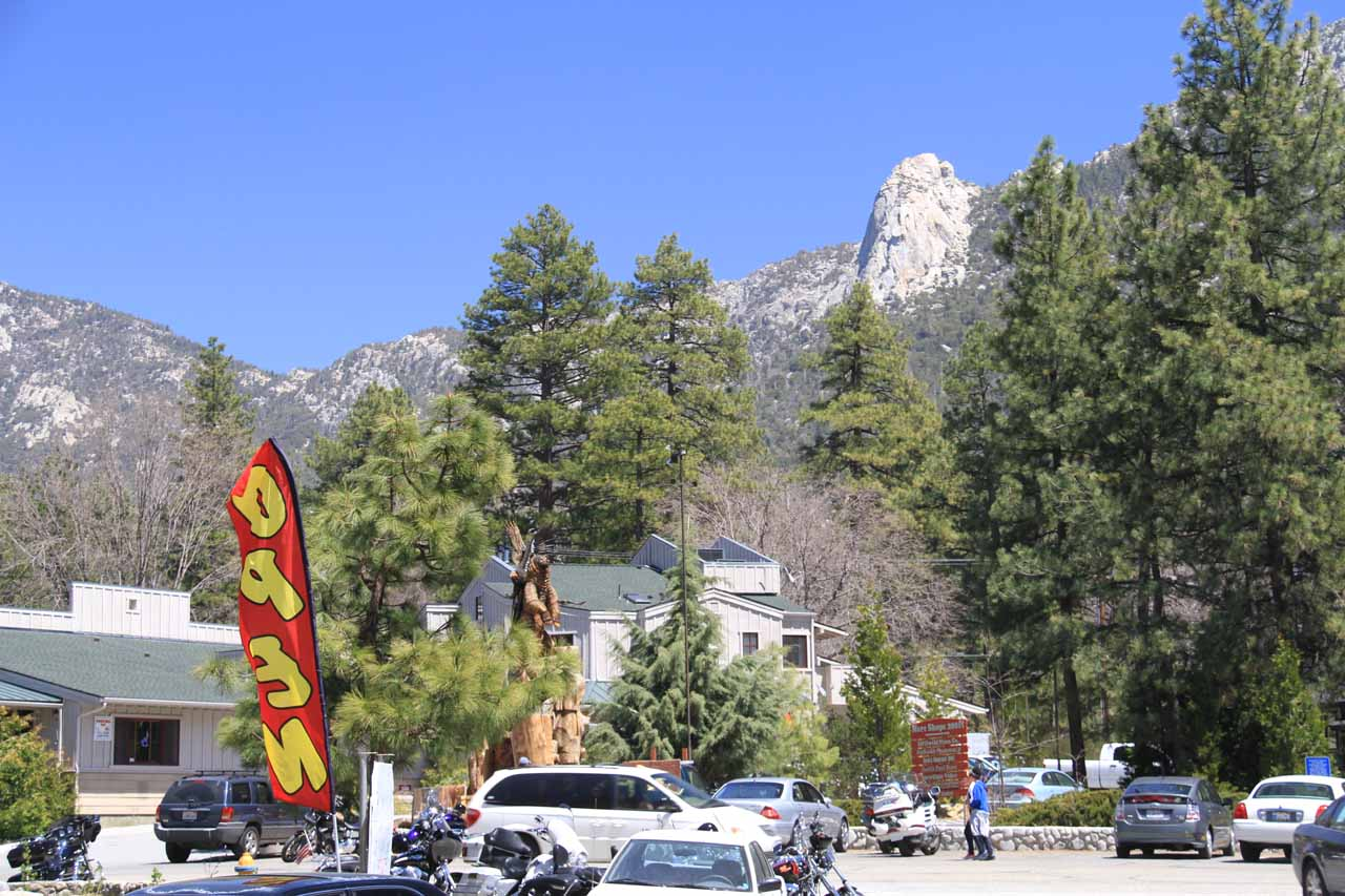 At the village center of Idyllwild