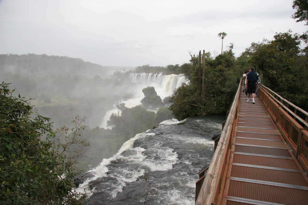 Catwalks giving us the ability to get close to these waterfalls