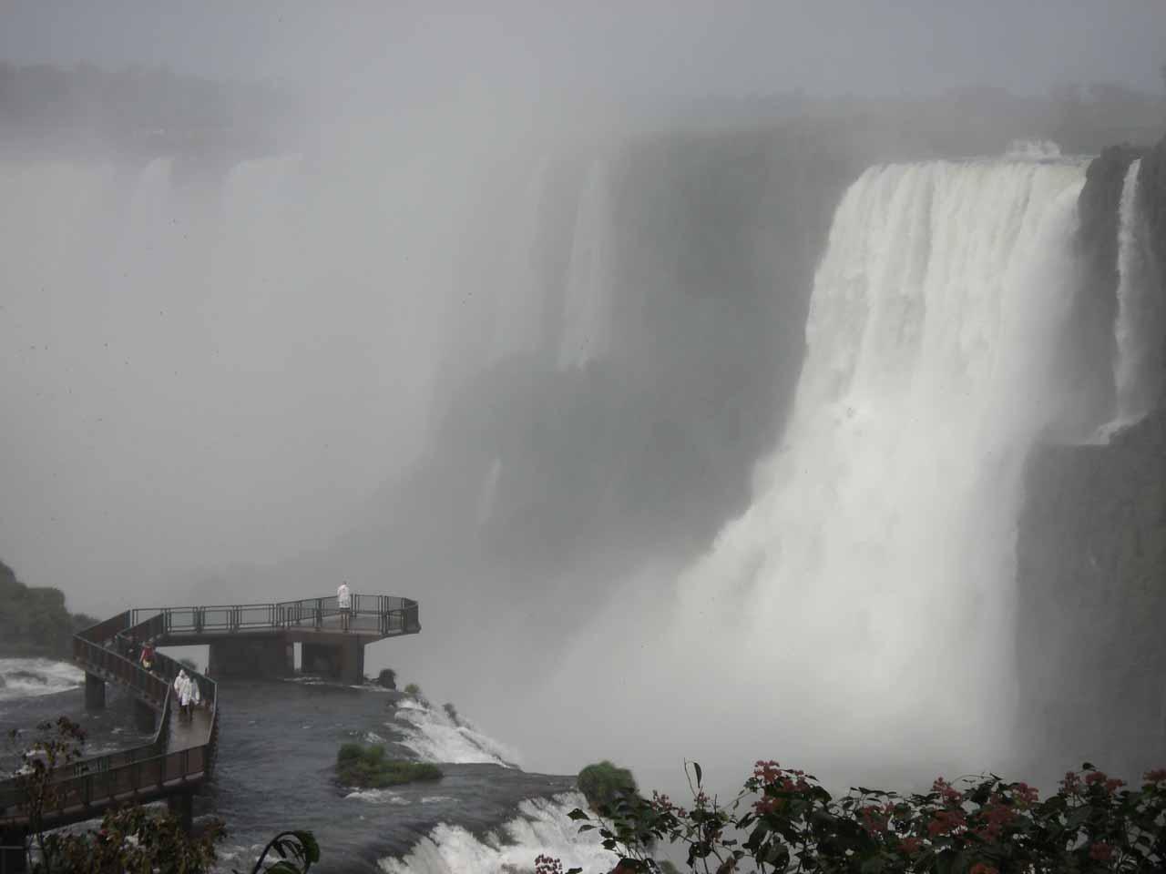 The immense scale of Iguazu Falls
