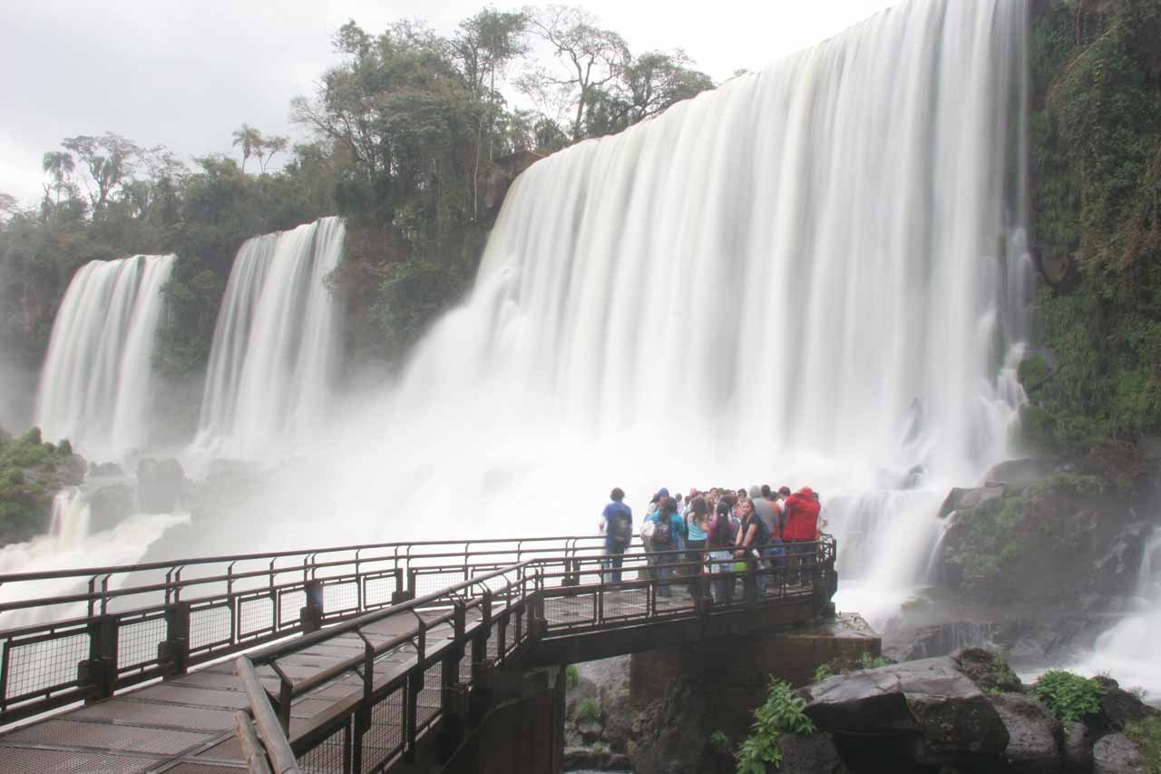 A closeup look at some of the waterfalls on the Argentina side