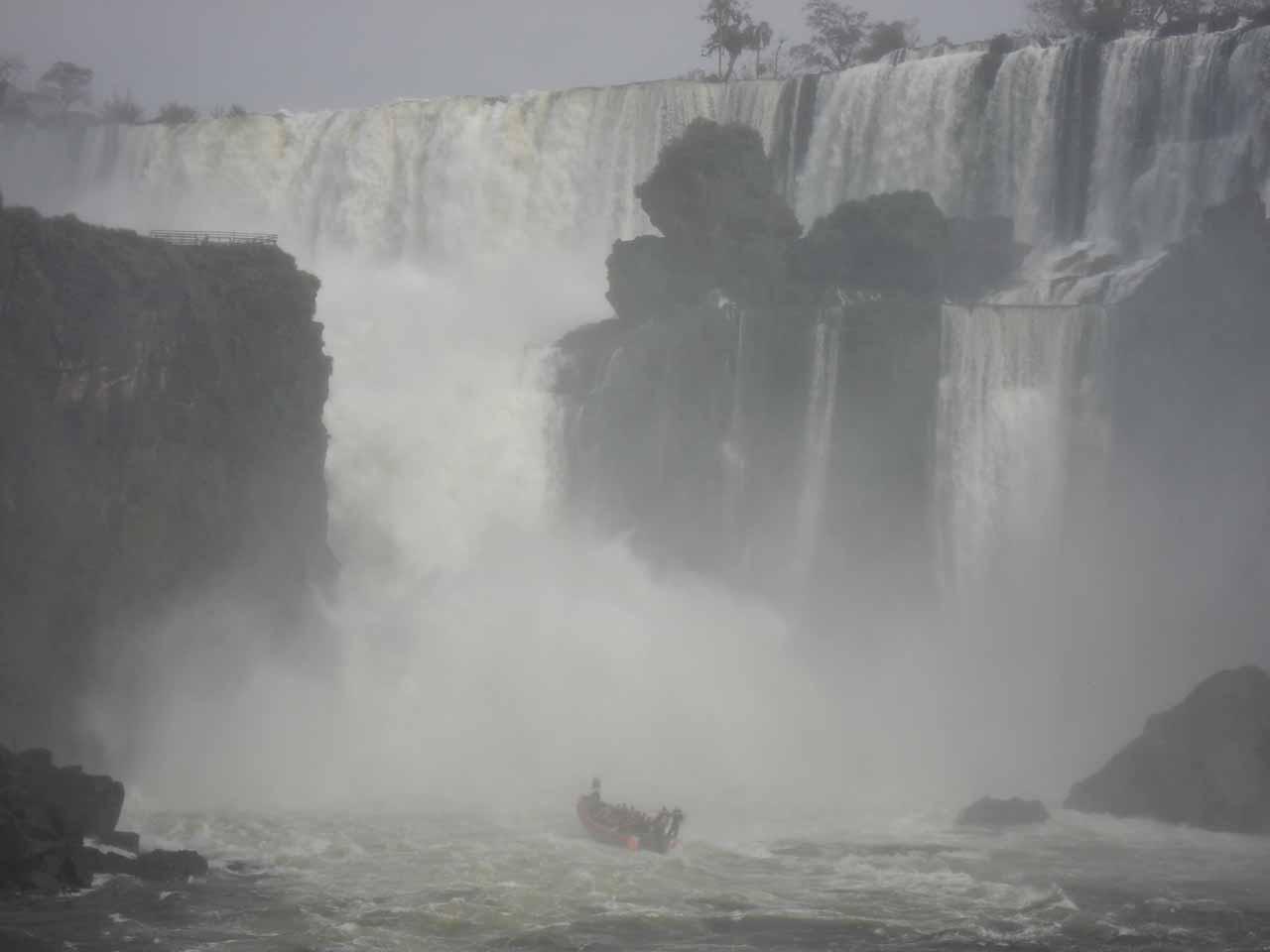Entering Iguazu Falls