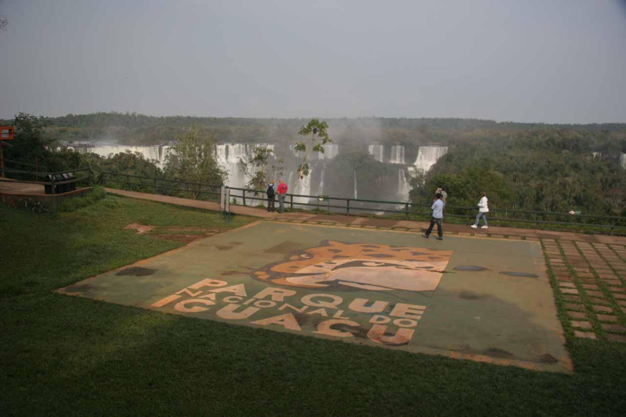 Entering Iguassu Falls