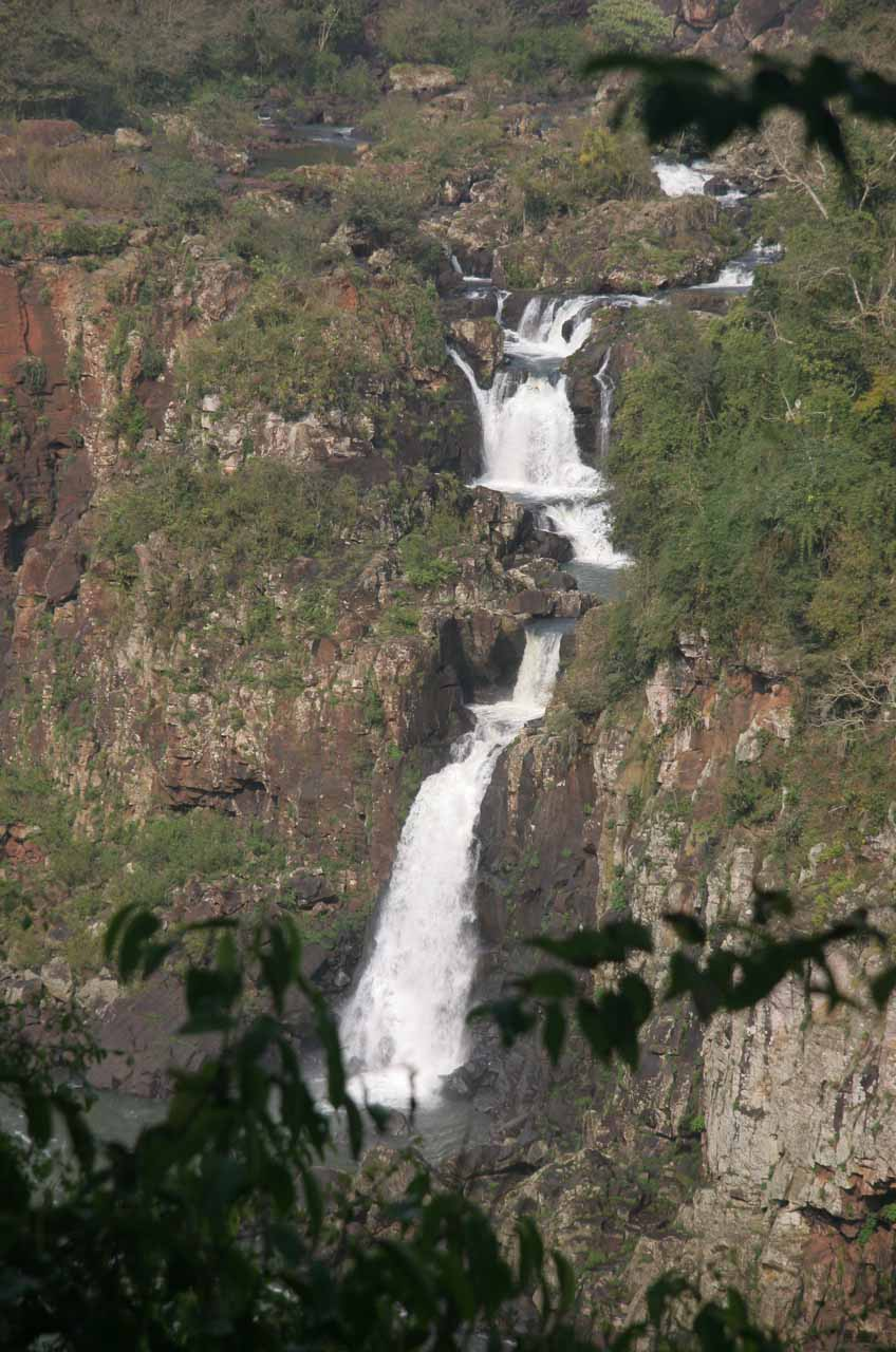 One of the falls tumbling from San Martin Island as seen from Brazilian side