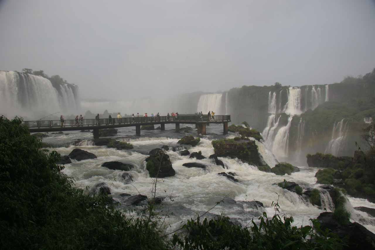 The immense scale of Iguazu Falls