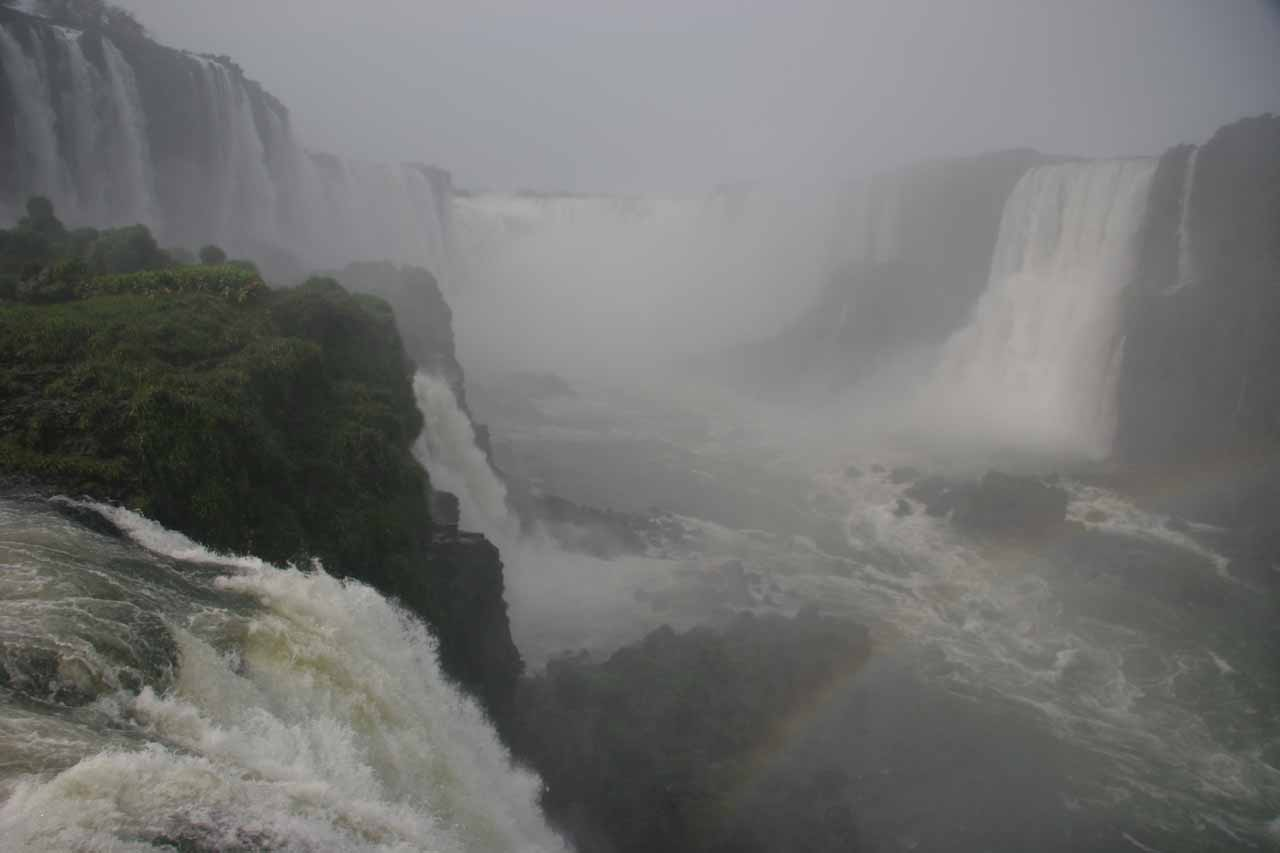 Famous view of Iguassu Falls' Devil's Throat on the Brazil side