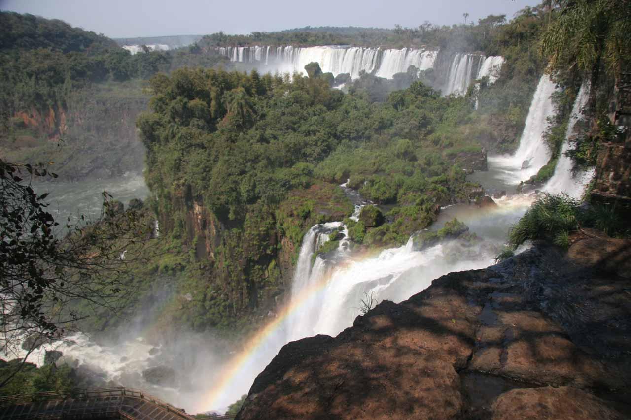 Iguazu Falls from the Argentina side on paseo superior