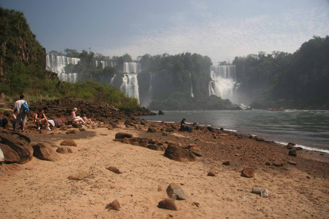 A little beach before Iguazu Falls on Isla San Martin