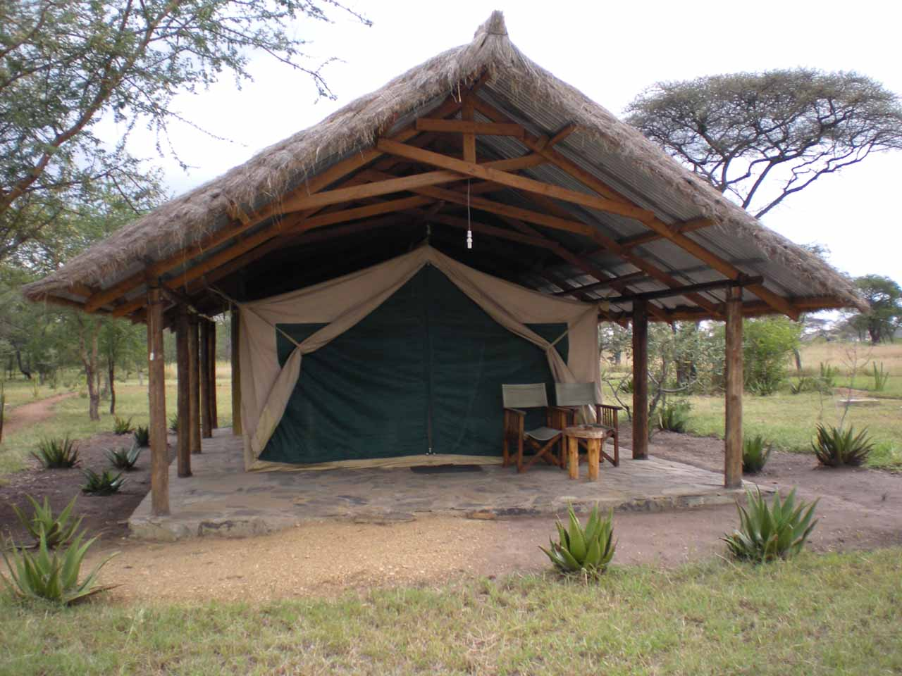 Our tented room at Ikoma Bush Camp