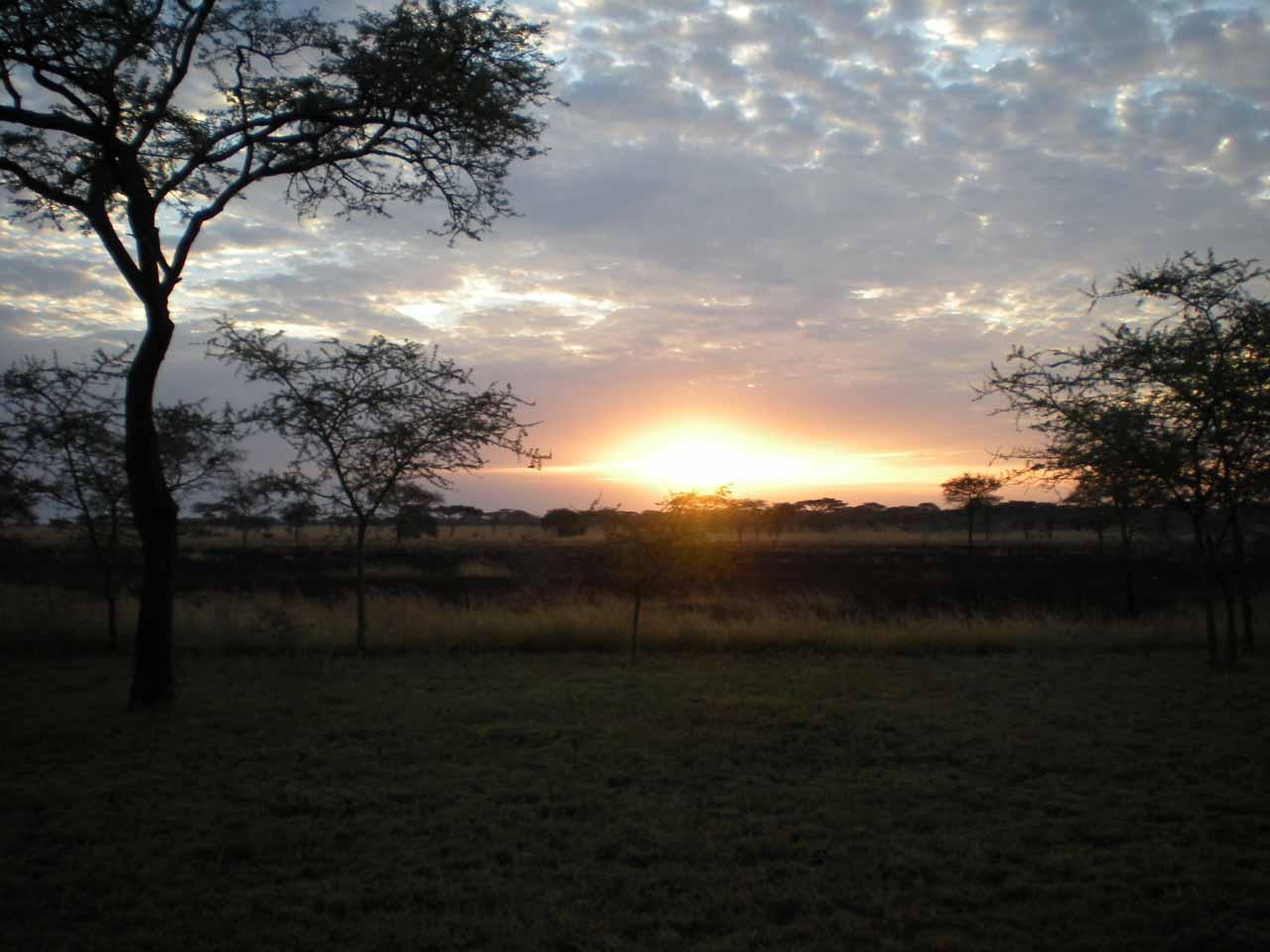 A rare Tanzanian sunrise for us