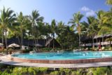 Ile_des_Pins_162_11272015 - Looking back across the pool towards Le Meridien dining area at the Ile des Pins