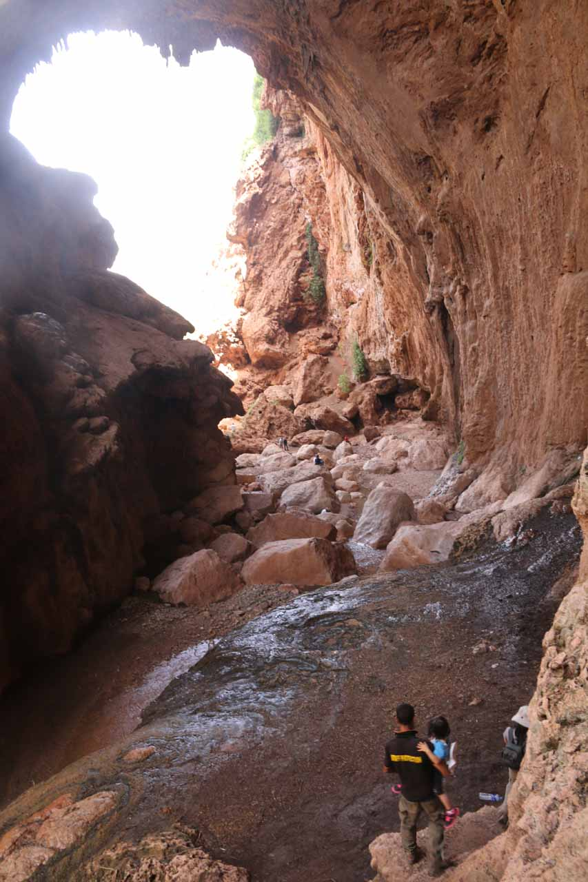 The Imi n'Ifri Natural Bridge opening that resembled the map of Africa