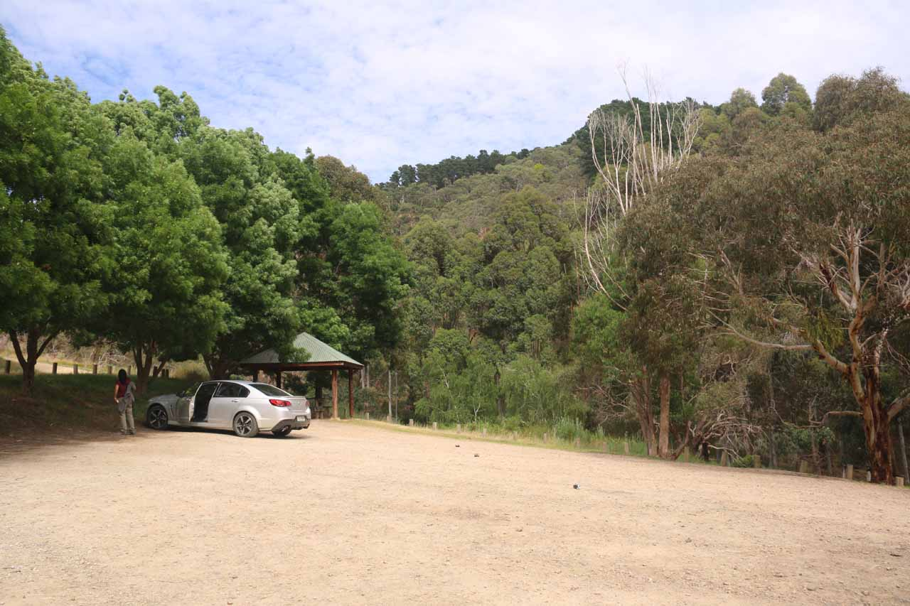 The car park for the Ingalalla Falls
