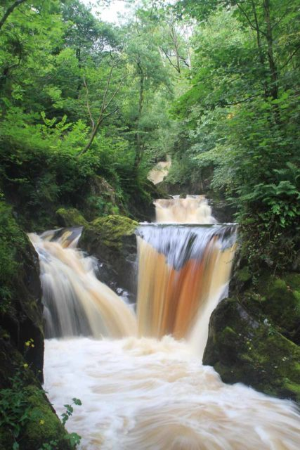 Ingleton_Waterfalls_Trail_060_08172014 - Looking right at the Pecca Twin Falls along the Ingleton Waterfalls Trail